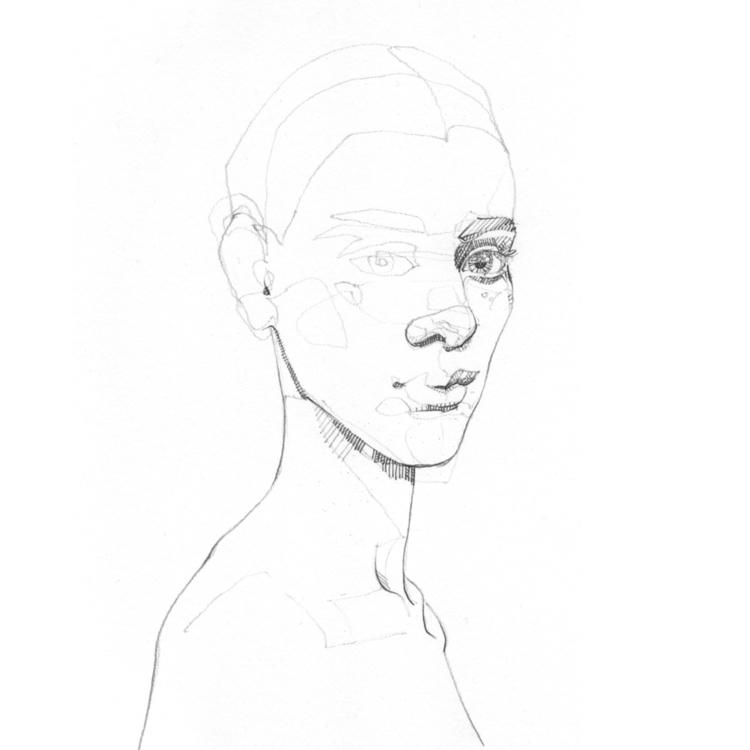 elloart, sketch, portrait, graphite - jasonthielke | ello