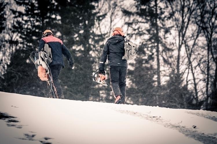 Logging life - stihllife, skog, oldfashionwork - bzzart   ello
