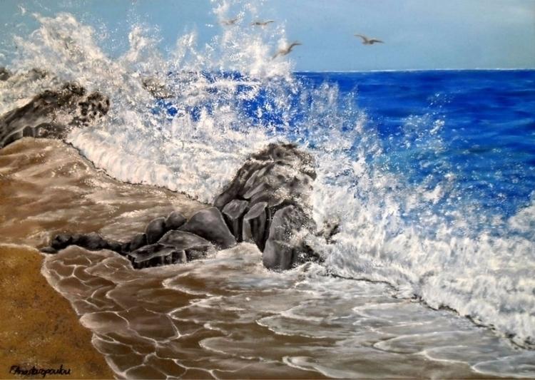 painting, art, prints, seascape - fayeanastasopoulou | ello