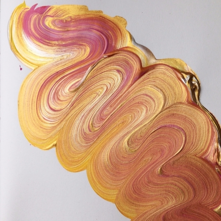 Warm brushstroke - art, gold, texture - dhuston | ello