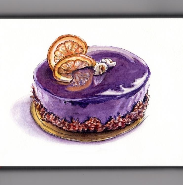 Shiny Dessert - watercolor, watercolour - doodlewash | ello