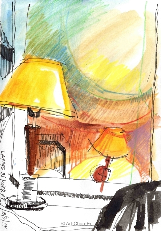 - Lamps mirror sketch Lebanon p - artchapenjoin | ello