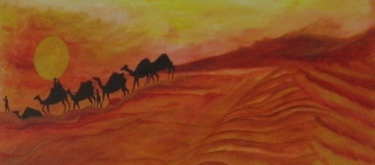 Dessert Sunset - Camel Walk - somanath | ello