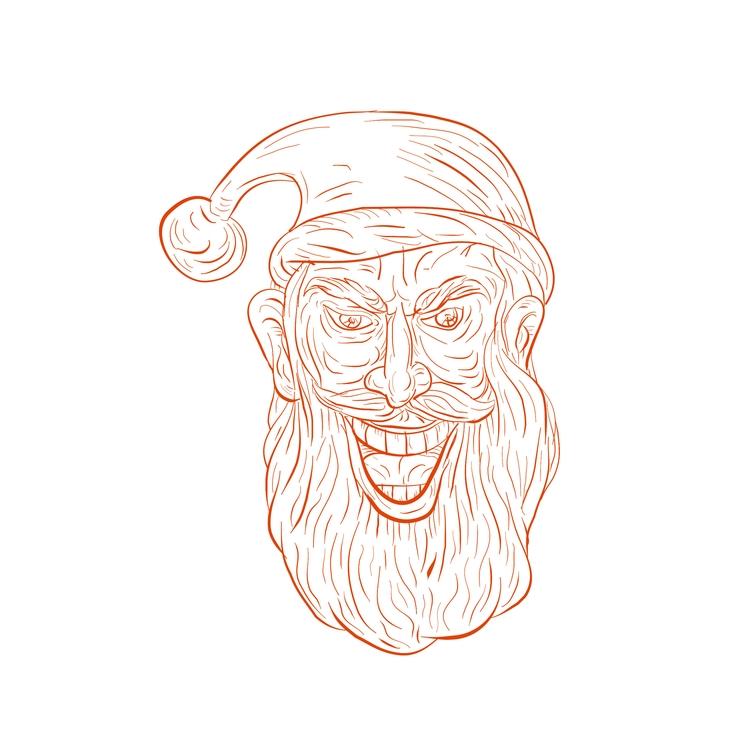 Head - Evil, Santa, Claus, Drawing - patrimonio | ello