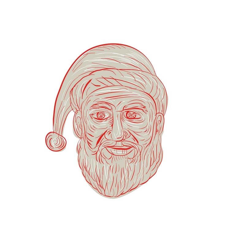 Head - Melancholy, Santa, Claus - patrimonio | ello