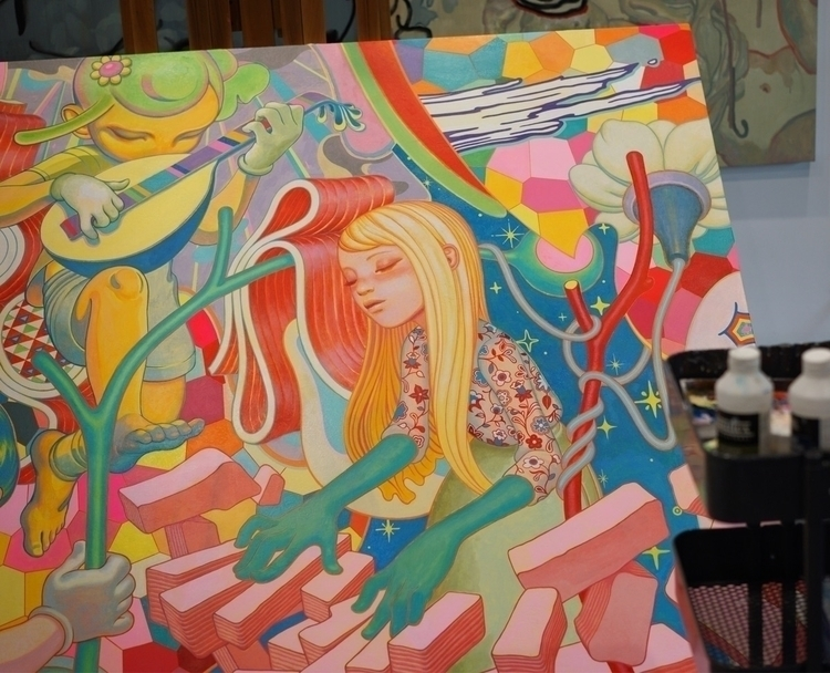 Endless jam session - wip, partsofpaintings - jamesjean | ello