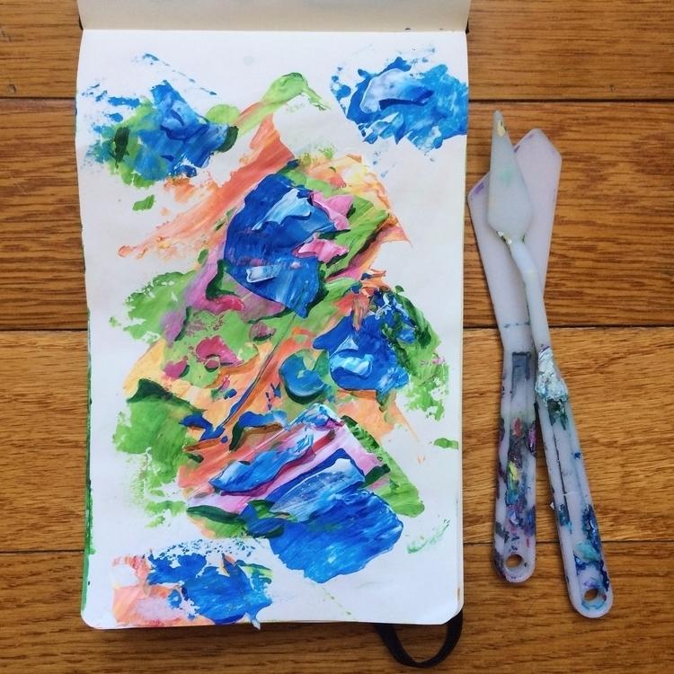 experimenting palette knives - art - dhuston | ello