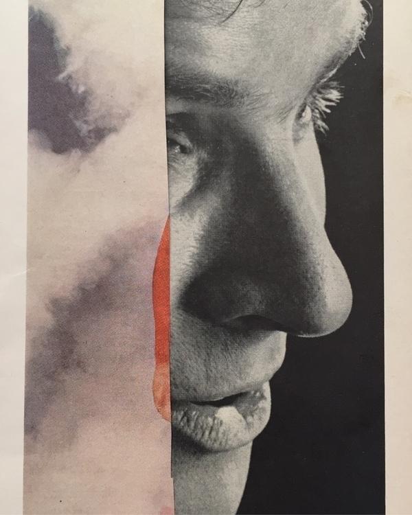 'August 1966' cut paper collage - gluefinger   ello
