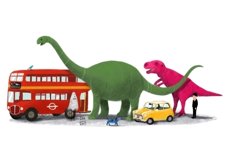 Dino size guide - illustration - doodlesmarc | ello