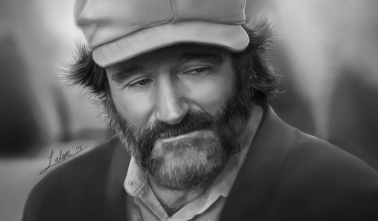 Robin Williams Tribute Painting - rain_walker | ello