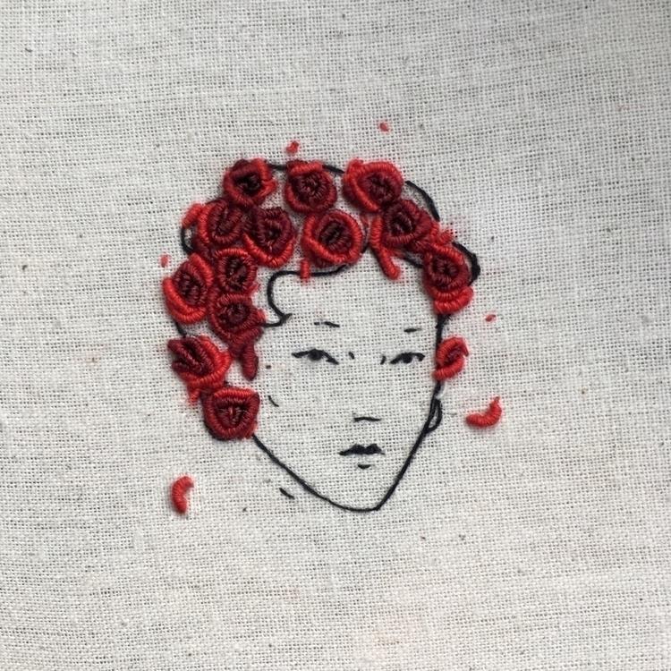 roses, embroidery - tsofiah | ello
