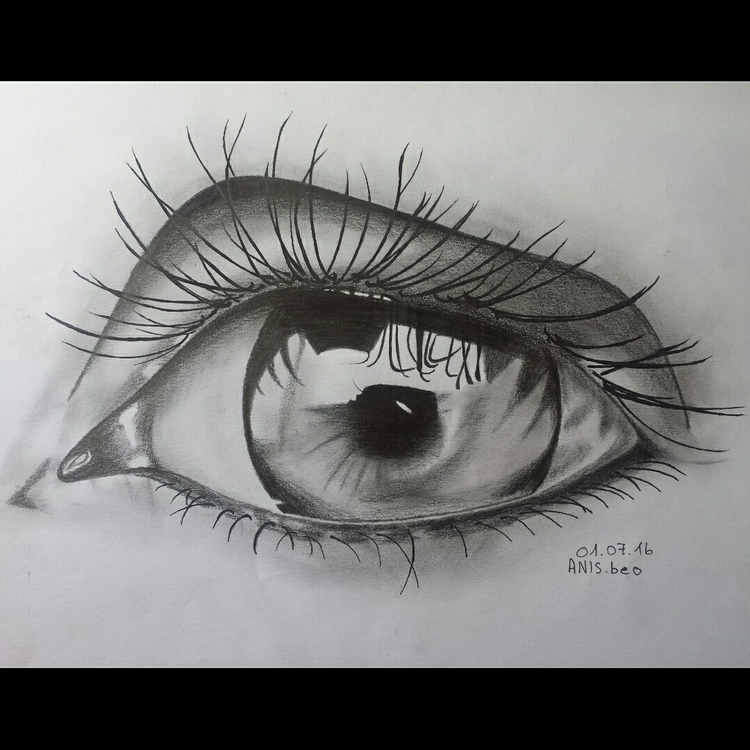 Realistic eye drawing pencils - anis__beo | ello