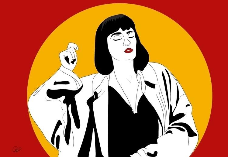 Girl, woman - illustration, vector - alicepeterhans | ello