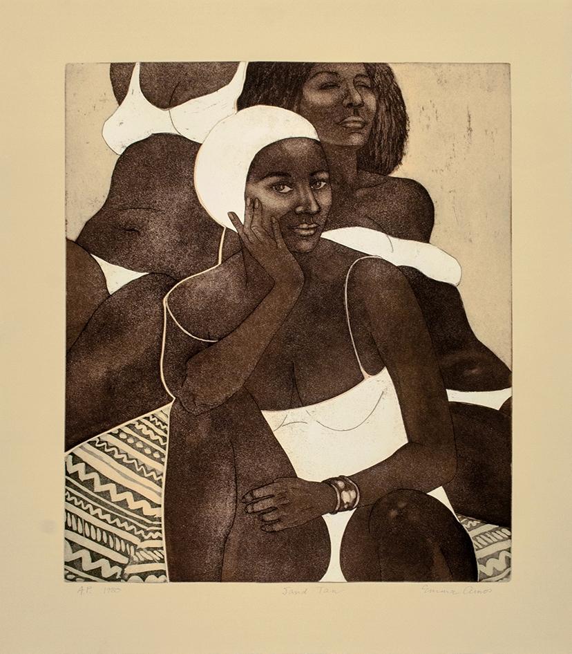 Emma Amos Sand Tan, 1980 Etchin - blackartmatters | ello