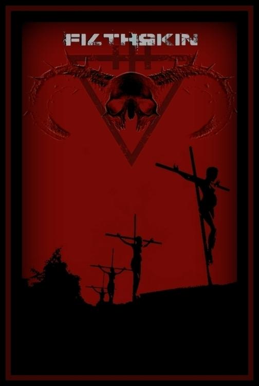 Poster design album:extinction  - filthskin | ello