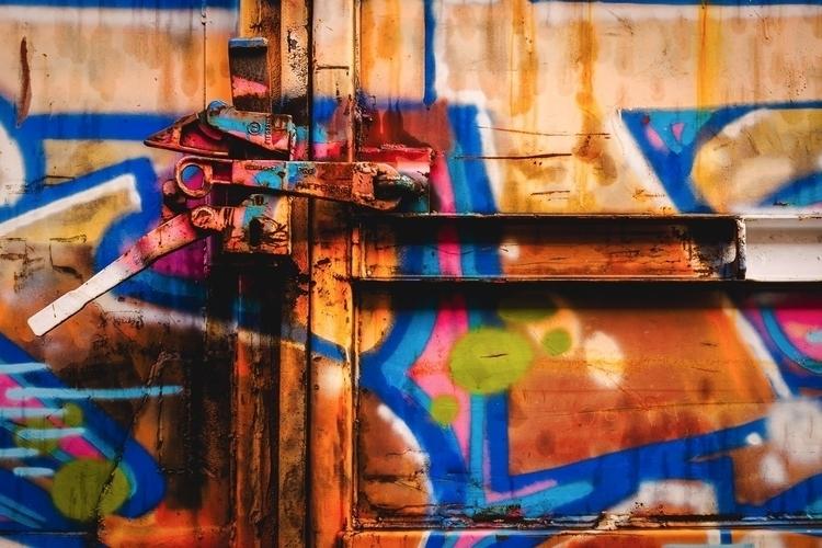 Steel Rainbow graffiti-covered  - mattgharvey   ello
