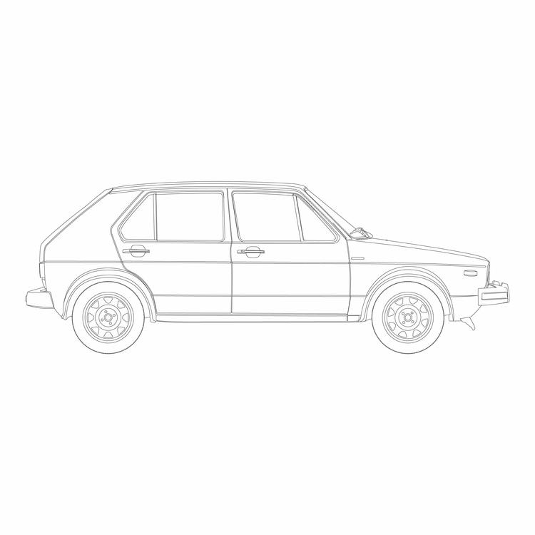 volkswagen, golf, mk1, carb - viktorkruse   ello