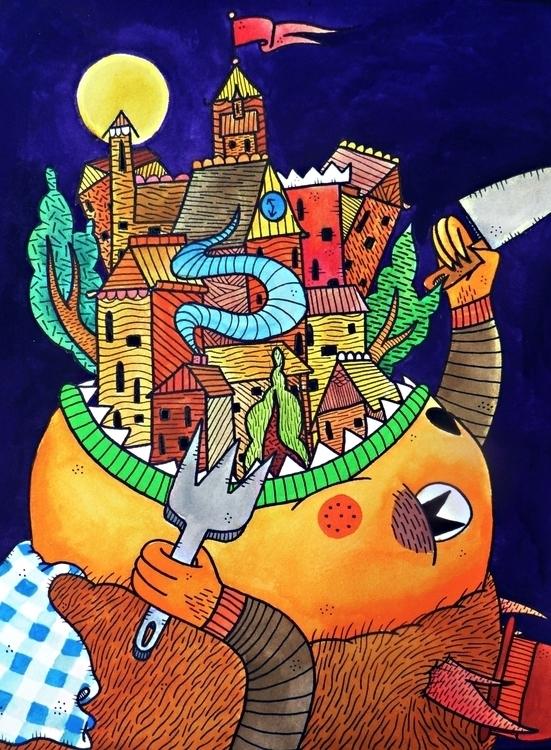 takes village feed monster - frenemy   ello