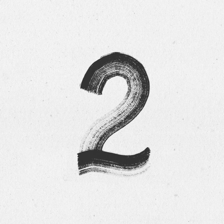 2 brushstrokes - 36daysoftype, 36days_2 - llanwafu | ello