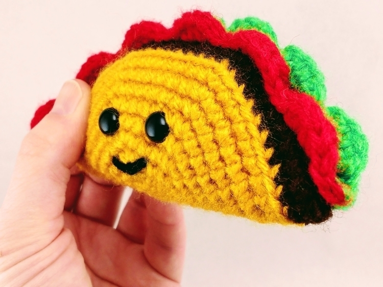Happy soft taco friend - TacoTuesday! - miniaturemonkeycreations | ello