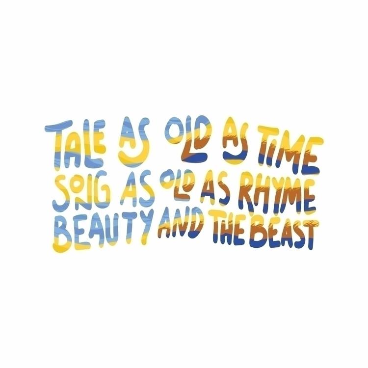 Beauty beast lyrics - Design, Typography - saprila | ello