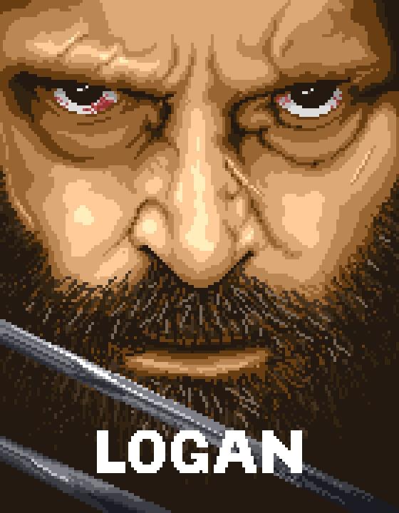 LOGAN - pixelart, illustration, poster - maurihelme | ello
