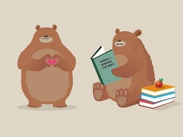 characterdesign, characters, bear - thelittlelabs | ello