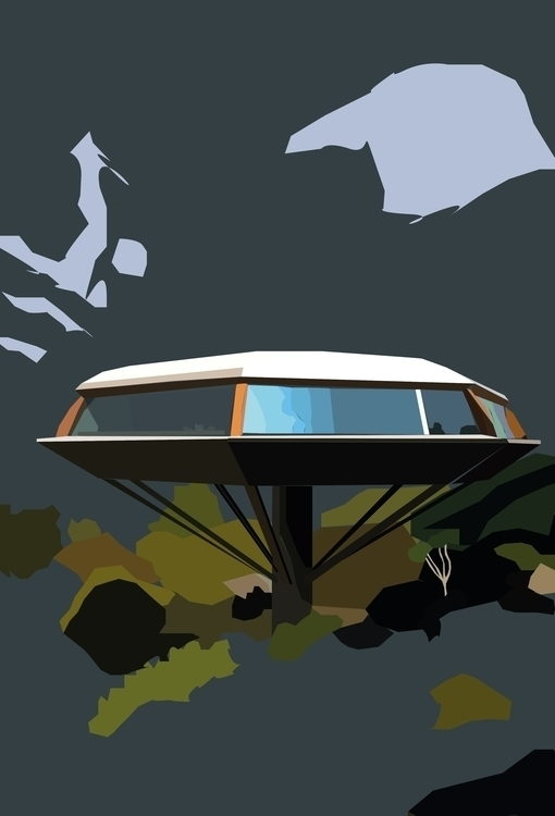 Chemosphere House John Lauter - illustration - sophieillustration | ello