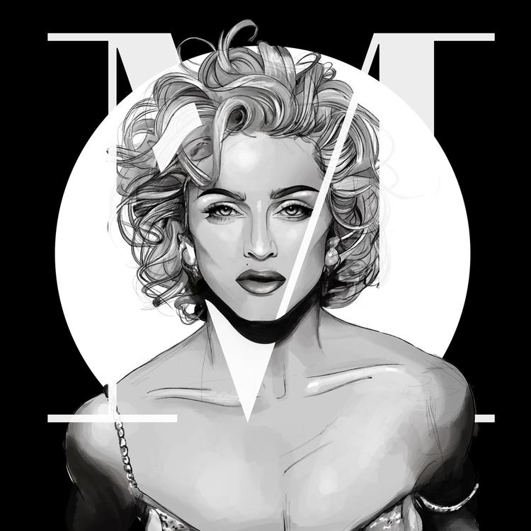 Madonna Illustration - drawing, draw - fmonroyr | ello