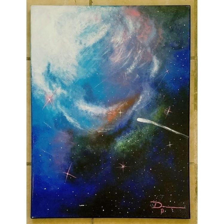 1:Conscious Galaxy. acrylic pai - hoteparts | ello