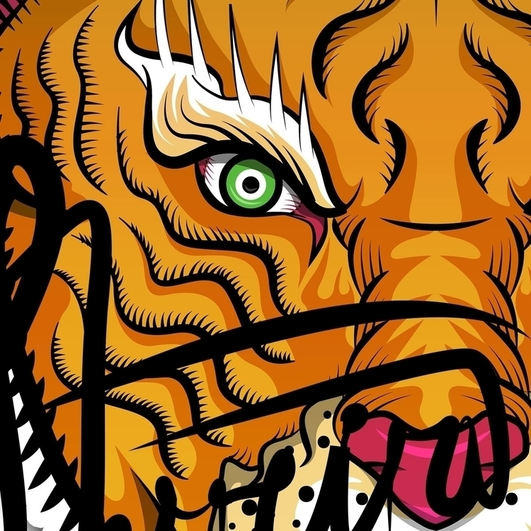 blood, fierce tiger fear - design - simeonf | ello