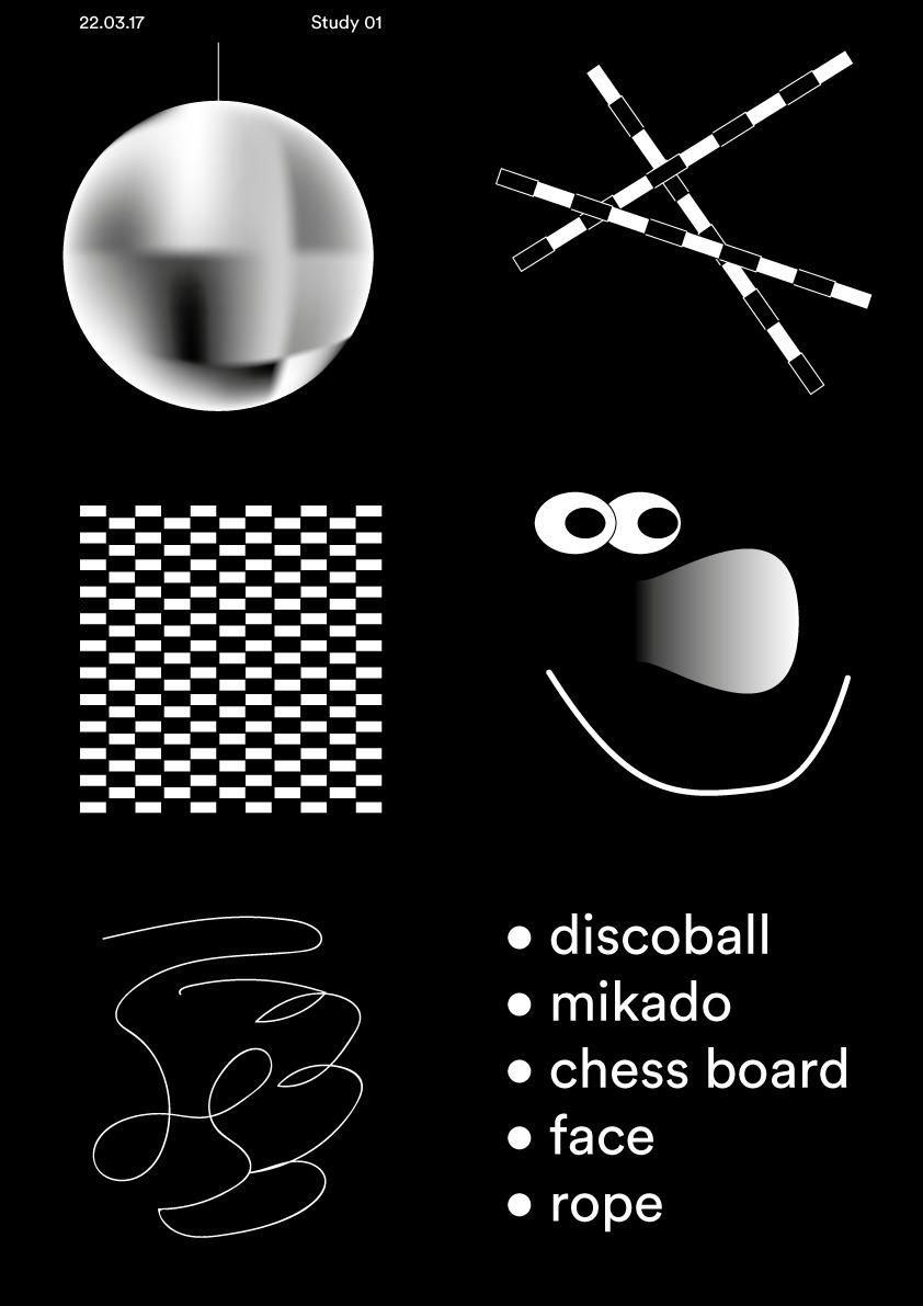 Study 01 discoball mikado chess - timcolmant | ello