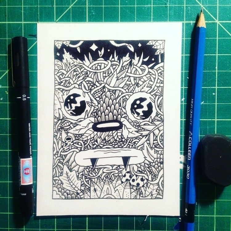 daily doodles Instagram. weeds  - frenemy | ello