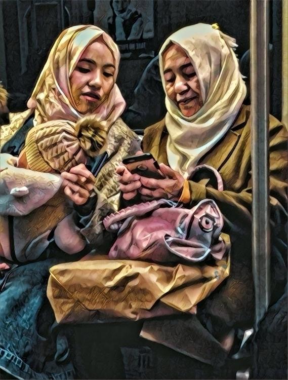 strangers train - streetphotography - electrachrome | ello
