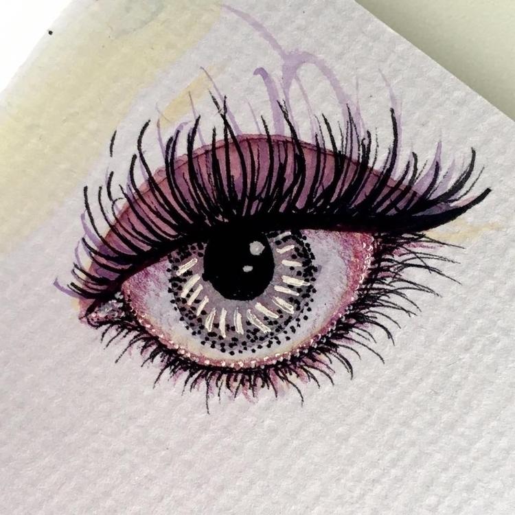 Weird eye watercolor, pencil in - borianag | ello