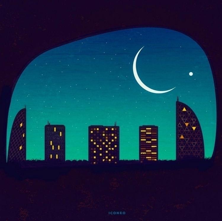 Elephant City - illustration, elephant - iconeo | ello