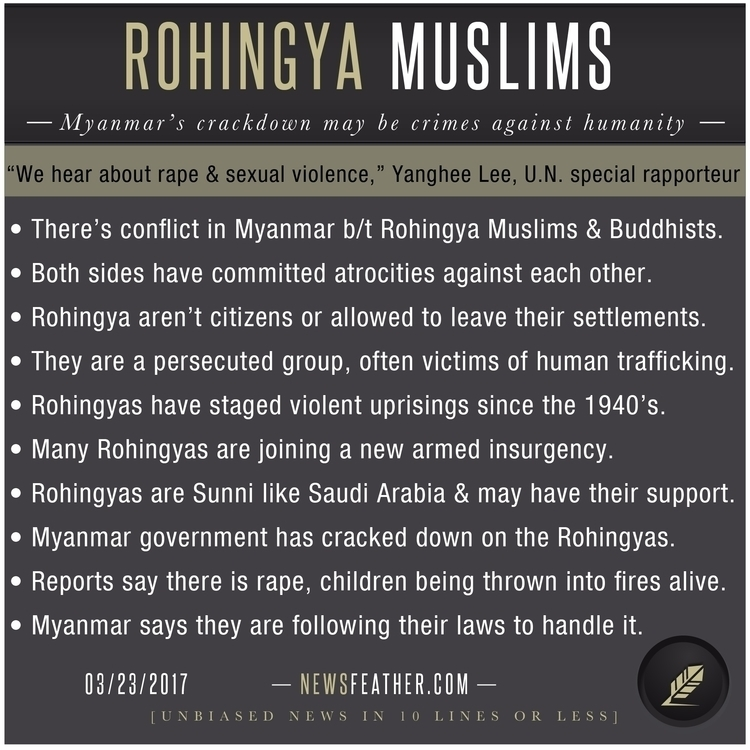 Learn Rohingya muslims Myanmar  - newsfeather | ello