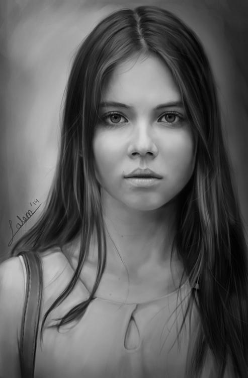 Russian Model - Portrait Painti - rain_walker | ello