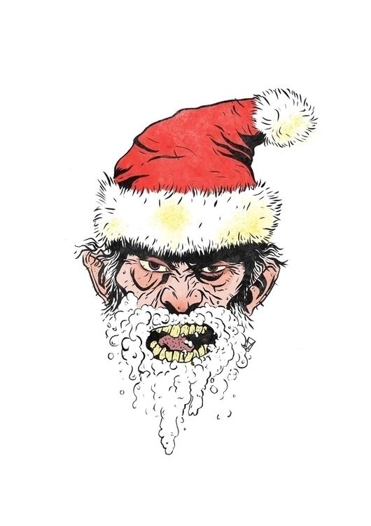 bite dog, dog bites wear Santa  - thedvl | ello