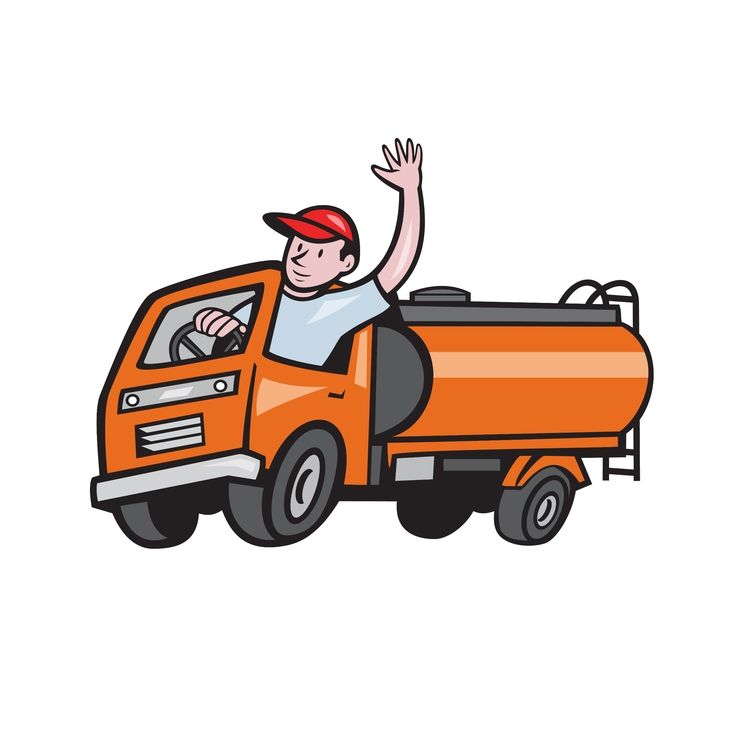 4 Wheeler Waving - Tanker, Truck - patrimonio | ello