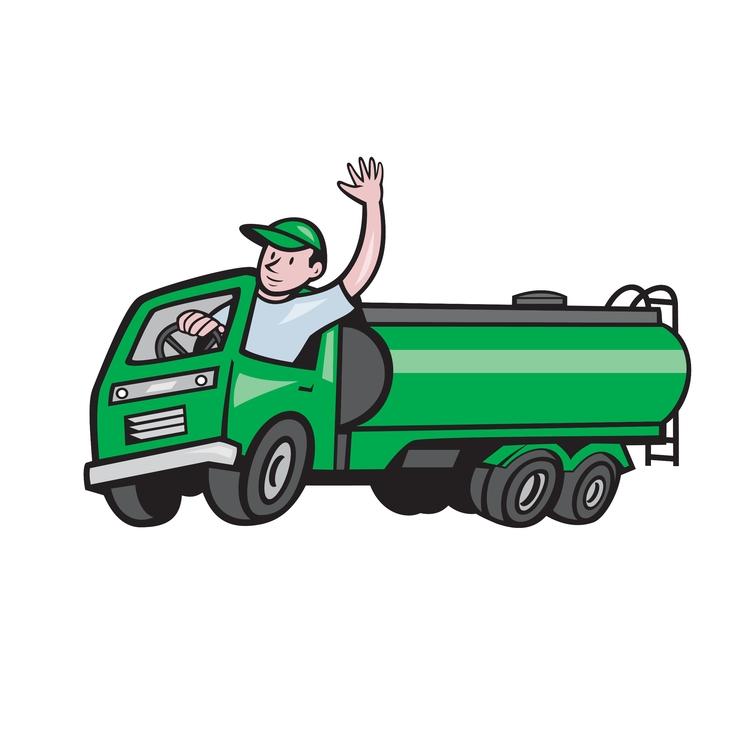 6 Wheeler Waving - Tanker, Truck - patrimonio | ello