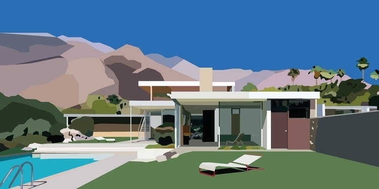 Kaufmann Desert House built Ric - sophieillustration | ello