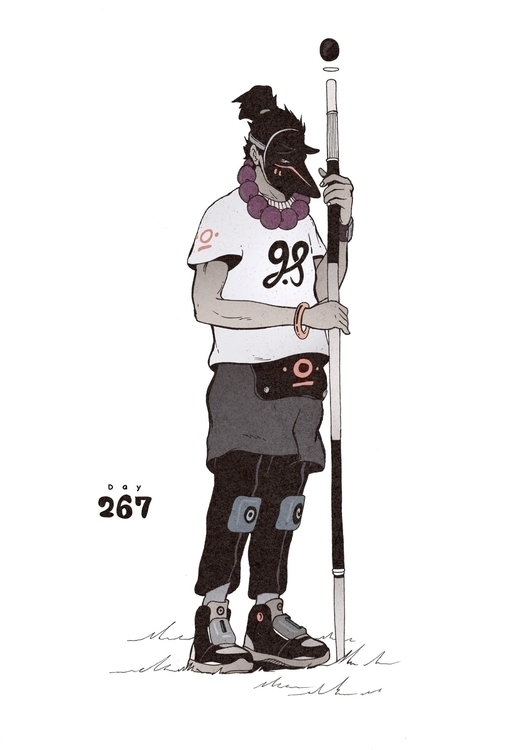 Day 267/365: Glaring Fox - illustration - 1sles   ello