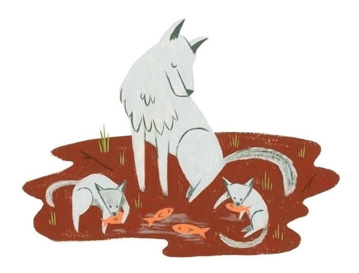 Family Dinner - wolf, family, gouache - alexander_mostov   ello