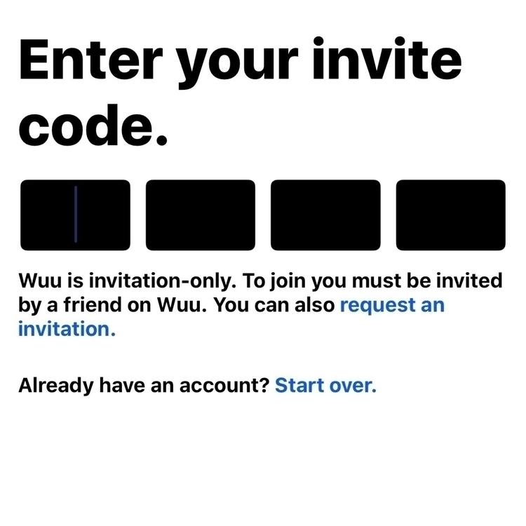 invite code - Wuu - bobbyjonc | ello