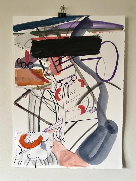 putting finger 2017, acrylic pe - tonyvandenboomen | ello