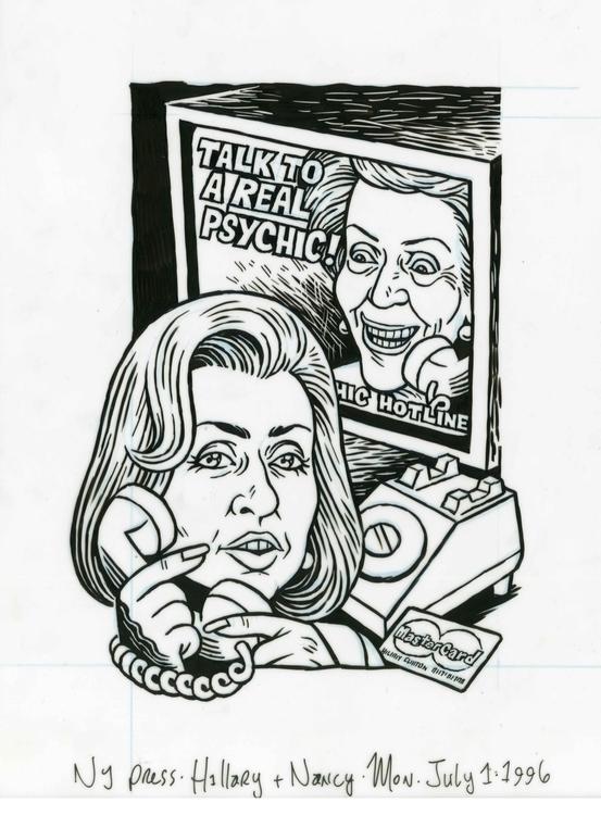 Hillary phones Nancy, illo NYPr - dannyhellman   ello