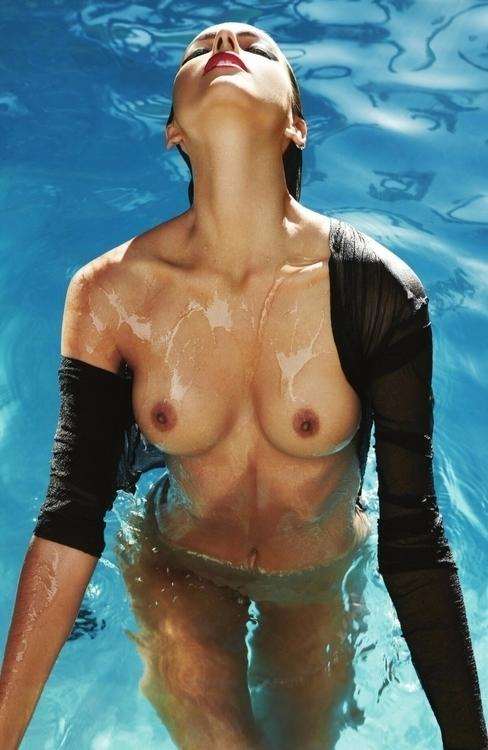 photoshoot, seminude, pool, boobs - blue-light | ello