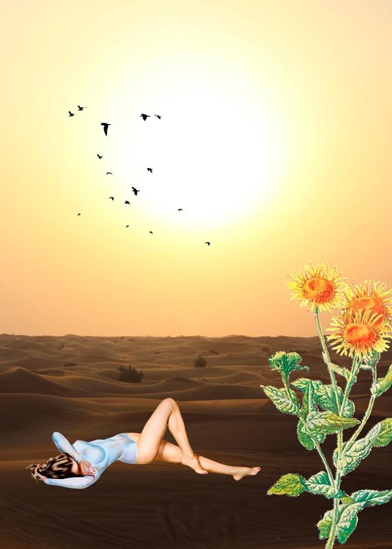El Despertar (Collage 2016 - desert - gloriasanchez | ello