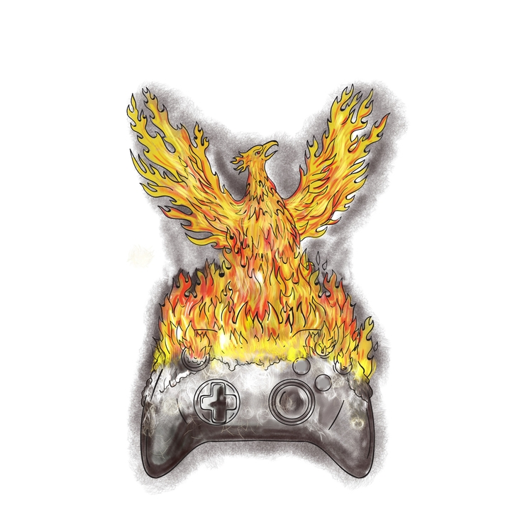 Rising Game - Phoenix, Burning, Controller - patrimonio | ello